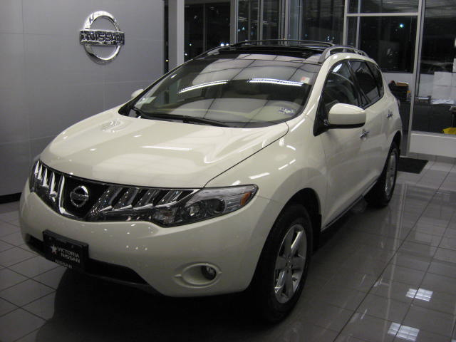 sold out 2009 nissan murano sl 360 glacier pearl with tan leather sold out victoria. Black Bedroom Furniture Sets. Home Design Ideas