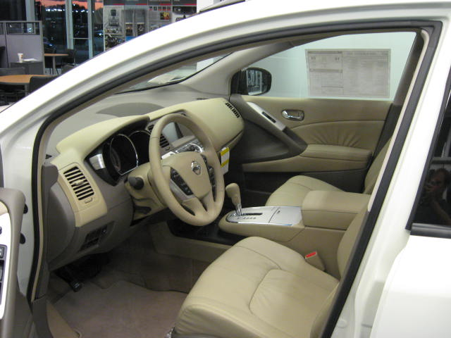 2009 nissan murano sl interior. Black Bedroom Furniture Sets. Home Design Ideas